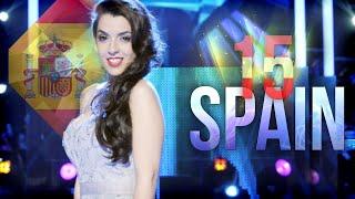 Los 15 mejores candidatos de España en Eurovision (The 15 bests candidates of Spain in Eurovision)