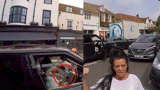 Raging Motorist Confronts Cyclist After Being Caught Using a Phone