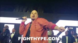 "FAT JOE TURNS CROWD ""ALL THE WAY UP"" AT FLOYD MAYWEATHER'S 40TH BIRTHDAY GALA; PAYS HOMAGE"