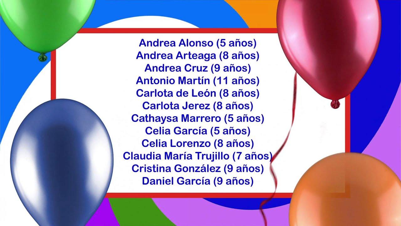 Archicumpleaños del 9 al 15 de Diciembre de 2012