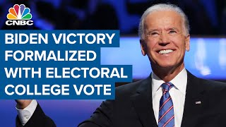 President-elect Joe Biden secures victory with 306 official Electoral College votes