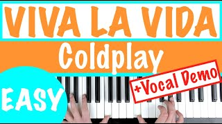 "How to play ""VIVA LA VIDA"" - Coldplay | Slow Easy Piano Tutorial"