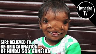 Indian Girl Believed To Be The Reincarnation Of The Hindu God Ganesha