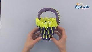 """Набор для творчества 3D оригами """"Корзинка"""" от компании Интернет-магазин """"Радуга"""" - школьные рюкзаки, канцтовары, творчество - видео"""