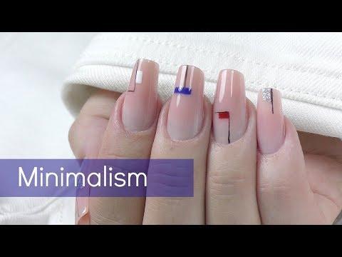 Minimal nail art 2018