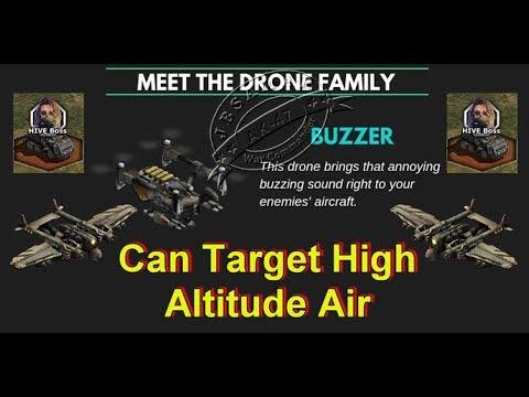 War Commander : Hive Boss Base ( Buzzer Drone Can target High Altitude Air )