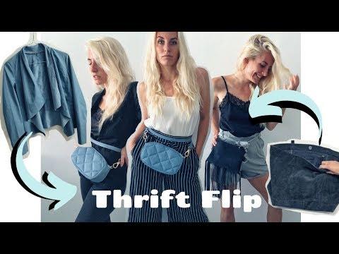 Thrift Flip #11 / Trendy und praktische Gürteltaschen für Sommer 2019 selber machen!