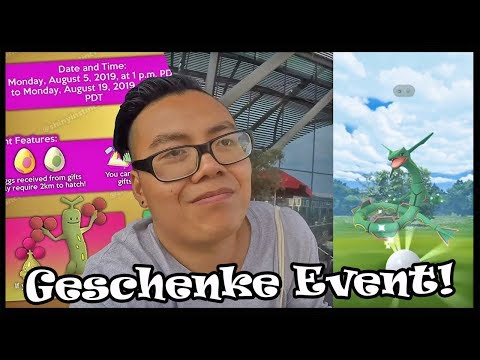 SHINY RAYQUAZA Jagd Tag 2! Geschenke Event kommt mit Shiny Mobai!