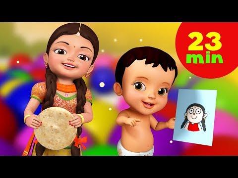 Mummy Ki Roti Gol Gol Rhyme and Much More   Hindi Rhymes for Children   Infobells