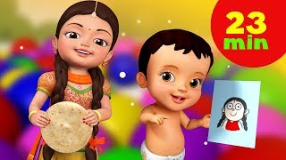 Mummy Ki Roti Gol Gol Rhyme and Much More | Hindi Rhymes for Children | Infobells
