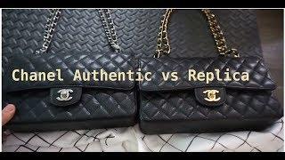 Chanel Comparison. Authentic Vs. Replica Medium Flap 2.55