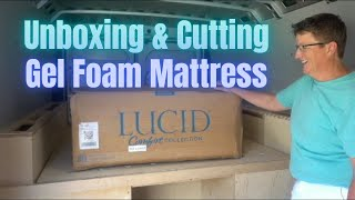 I'm Cutting Our Lucid Memory Foam Mattress |Van Life How To