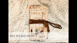 File Folder Folio (the Process) Part 1