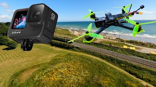 GoPro HERO 9 en DRON FPV (Nazgul 5 V2 Analogico)