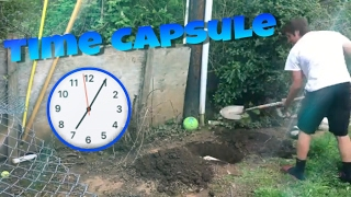 Burying a time capsule! See it in 5 years