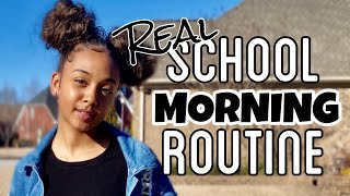 My Real School Morning Routine   GRWM   LexiVee03