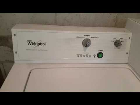 Reset control Whirlpool commercial washer machine