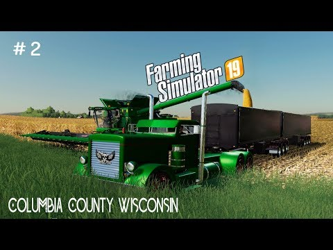 Harvesting Corn For Hire | Columbia County Wisconsin | Farming simulator 19 | Timelapse # 2