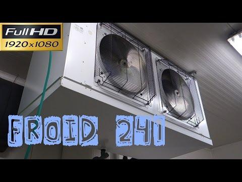Froid241-Une prise en glace sur un gros évaporateur en froid positif