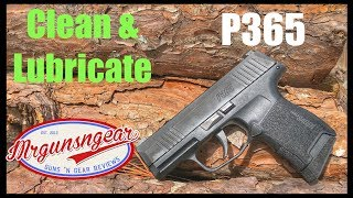 How To Clean & Lubricate A Sig Sauer P365 Pistol  (4K)