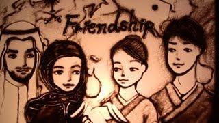 サウジアラビアサンドアートパフォーマンスSaudiArabiasandart〜Friendship〜byKarinito
