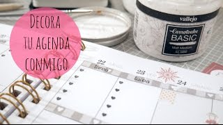 Decorando mi agenda para Navidad. Plan with me Xmas edition. DN2016 Episodio 10