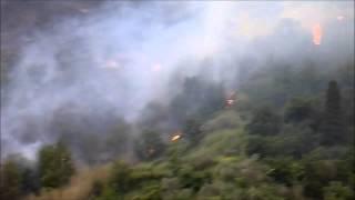 preview picture of video 'Incendio a Monforte S.Giorgio'