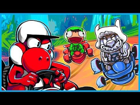 Mario Kart 8 Deluxe Funny Moments! - WILDCAT & Nogla Carry a VERY ANGRY BigJigglyPanda! (Funny Rage)