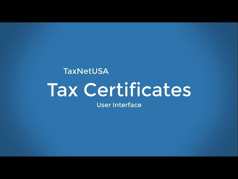 TaxNetUSA Tax Certificates: