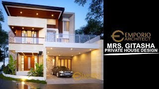 Video Mrs. Gitasha Modern House 3 Floors Design - Jakarta
