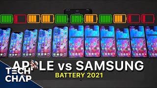 Galaxy S21 vs S21+ vs S21 Ultra vs iPhone 12 vs Pro vs Pro Max - BATTERY Test!