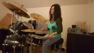 Foreigner Heart turns to Stone ~ Drum Cover by Denise