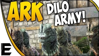 ARK Survival Evolved Gameplay ➤ DILO ARMY! [Army Series]