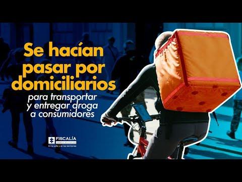 Microtráfico: Se hacían pasar por domiciliarios para transportar y entregar droga