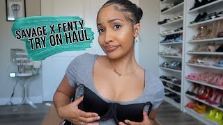 SAVAGE X FENTY FASHION SHOW TRY ON COLLECTION!!