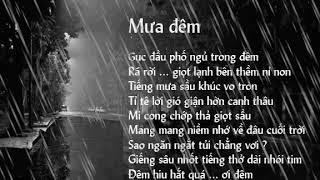 tiếng mưa đêm giảm căng thẵng va mệt mỏi