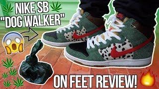 "NIKE SB DUNK HIGH WALK THE DOG ""HIGH DOG WALKER"" 4/20 FULL UNBOXING AND REVIEW! | BEST NIKE SB 2019?"