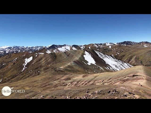 Panorama am Palccoyo Mountain, Peru