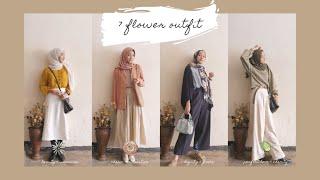 7 Outfit Inspired By Flowers / Dressing Up Like Flowers / Spring Lookbook Hijab #ootd #vintage