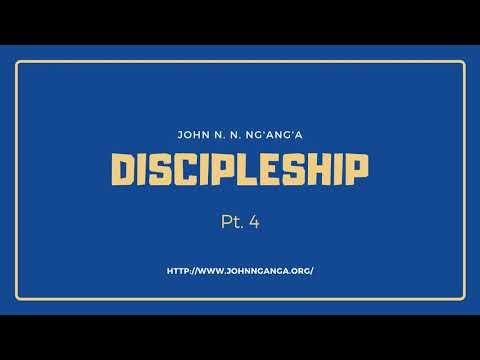 Discipleship pt.  4