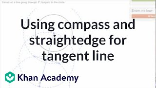 Another Example Using Compass And Straightedge For Tangent Line