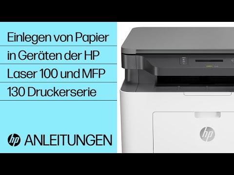 Einlegen von Papier in Geräte der HP Laser 100 und MFP 130 Druckerserie