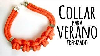 DIY COLLAR VERANIEGO TRENZADO - ANUDADO