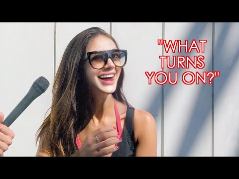 Asking GIRLS what TURNS THEM ON! | Beach interviews