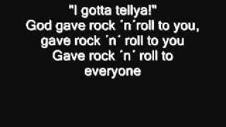 Kiss - God gave Rock ´n´ Roll to you II Lyrics
