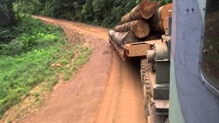 Oshkosh M1070 Hauling Logs. Super Heavy 8 X 8 Tractor With Lowbed Trailer!! Part 5