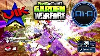 Plants Vs Zombies Garden Warfare Multiplayer  With Vikkstar Alia Gardens Graveyards Gameplay