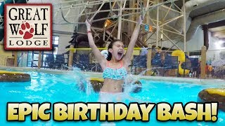 DREAM BIRTHDAY AT GREAT WOLF LODGE!!! Indoor Waterpark! This Hotel Has EVERYTHING!