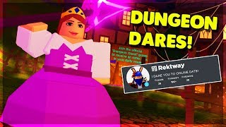 MY FANS DARE ME TO DO THESE THINGS! (ROBLOX DUNGEON QUEST)