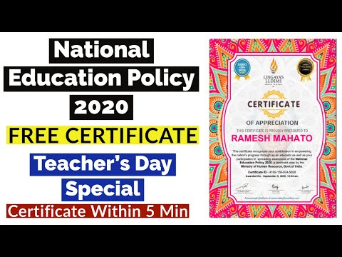 Free Verified Course With Certificate | Teacher's Day Certificate